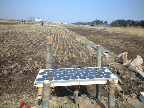 ソーラーパネル式のポンプ