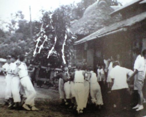 加村台の祭り、昭和30年